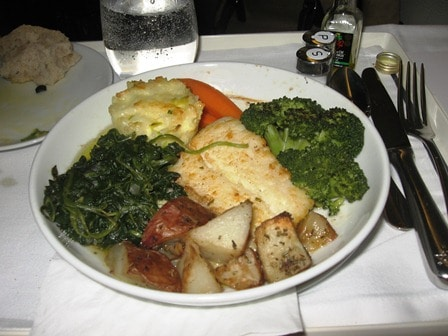 Halibut Dinner air France