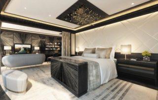 Regent Suite Master Bedroom on Seven Seas Splendor