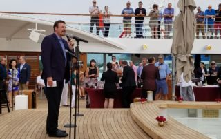Rick Meadows Seabourn Ovation launch