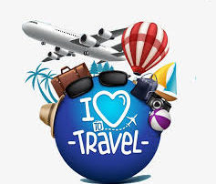 I Love to Travel Clip Art