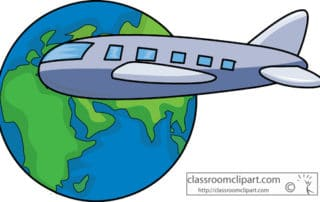 Airplane Travel Around the Globe