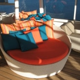 Crystal Cruises deck chair
