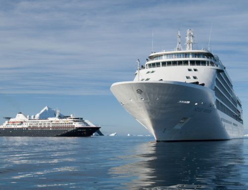 Jaw-dropping moments caught on camera when  Silversea ships meet in Antarctica