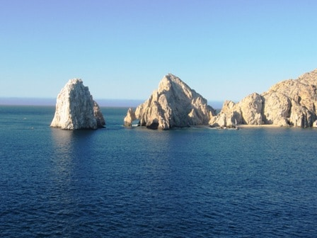 Arriving Los Cabo by ship