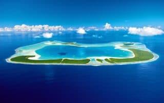 Aerial view of The Brando Tahiti