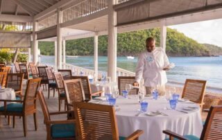 Dining at Carlisle Bay Resort