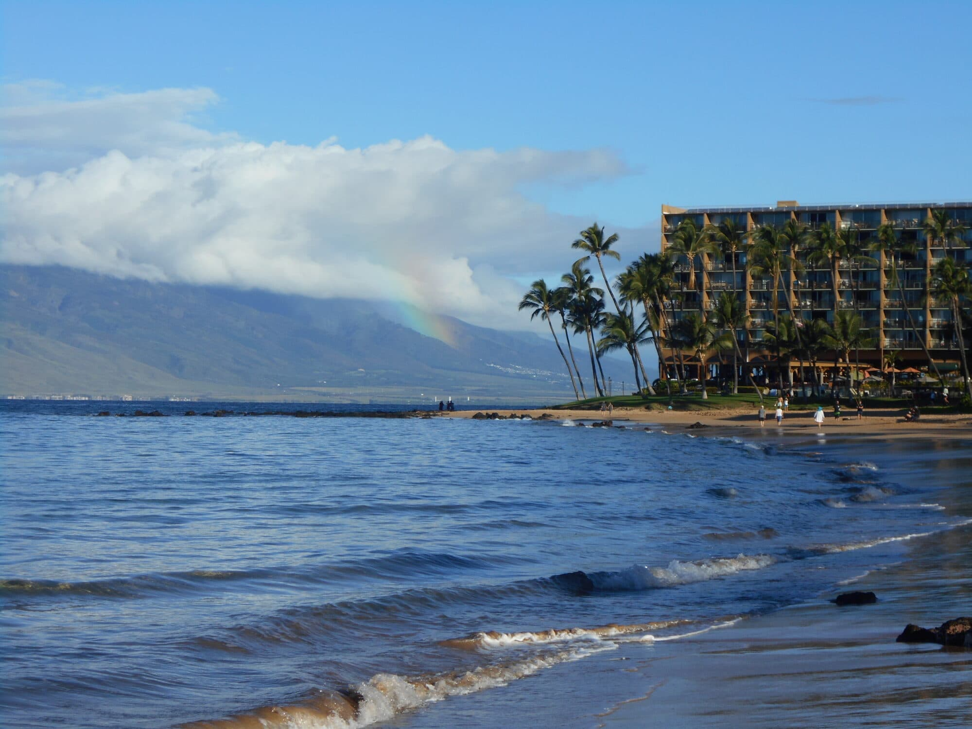 Rainbows rise regularly in Maui