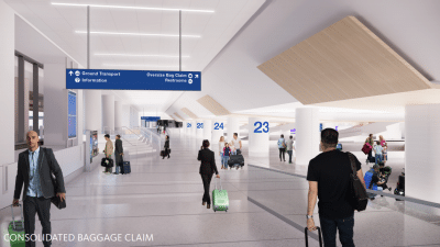 Delta Airlines remodeled LAX terminal
